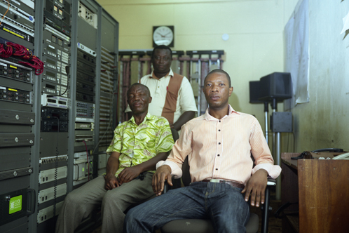 Daniel Obeng, Technical Supretendent, Emmanuel, Assistant Technical Co-ordinater and Jonathan, Computer network & Systems Engineer, GBC, Accra, Ghana