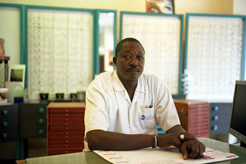 François Xavier, Optician, Dakar, Senegal